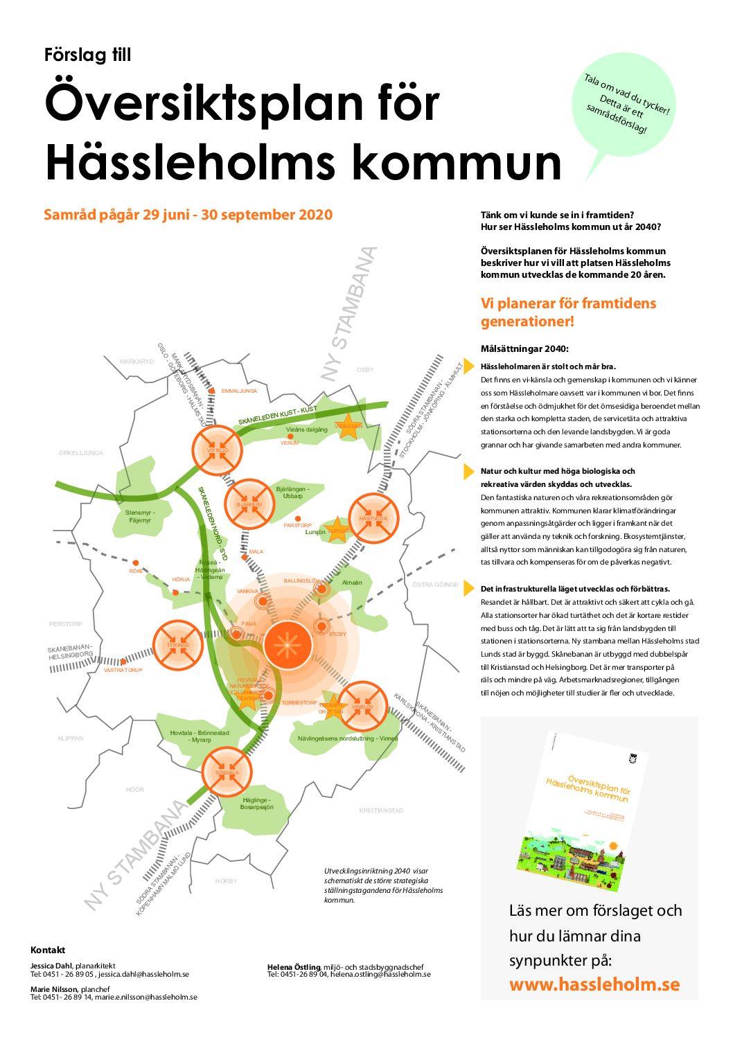 Samråd – Översiktsplan för Hässleholms kommun